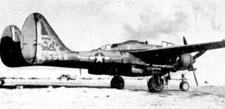 «NIGHTIE MISSION» — истребитель P-61A-1 серийный номер 42-5526. Самолет со стоял на вооружении 6 NFS, эскадрилья в июле 1944г. базировалась на аэродроме Ист-Филд, Сайпан. Данный самолет был 42-м построенным P-61A, в принципе он должен был стать пятым самолетом без фюзеляжной пулеметной турели, тем не менее на нем турель стоит. Большинство машин 6 NFS имели пулеметные турели.