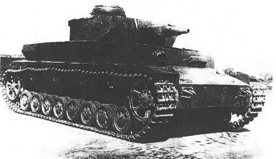 Pz.IV Ausf.Fl ни НИИБТПолигоне в Кубинке, 1947 год. Характерная деталь этой модификации — прямая лобовая плита с шаровой установкой курсового пулемета.