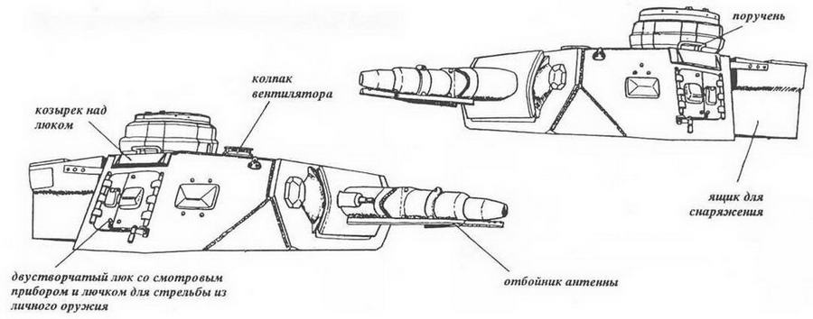 Характерные особенности башни танка Pz.IV Ausf.FI