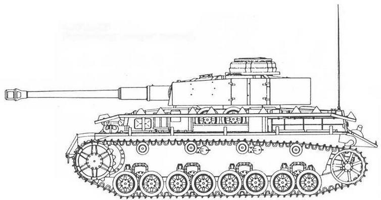 Pz.IV Ausf.H (бортовые экраны не установлены).