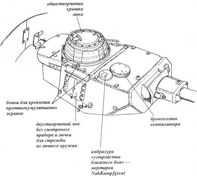 Характерные особенности башни танка Pz.IV Ausf.J