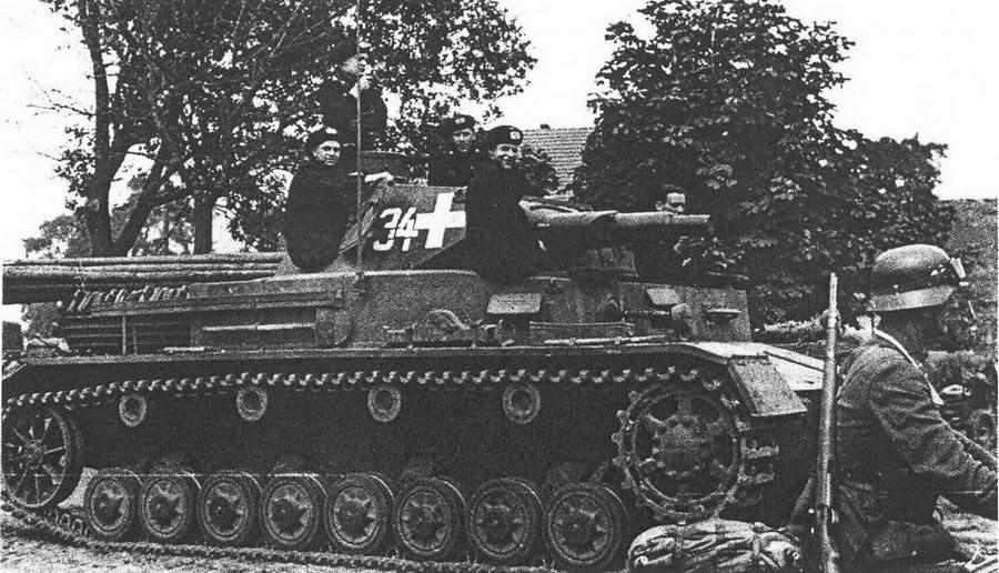 Pz.IV Ausf.A, 1-я танковая дивизия, Польша, сентябрь 1939 года.