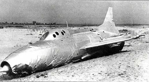 Аварийная посадка Е-50 летчика В.Г. Мухина