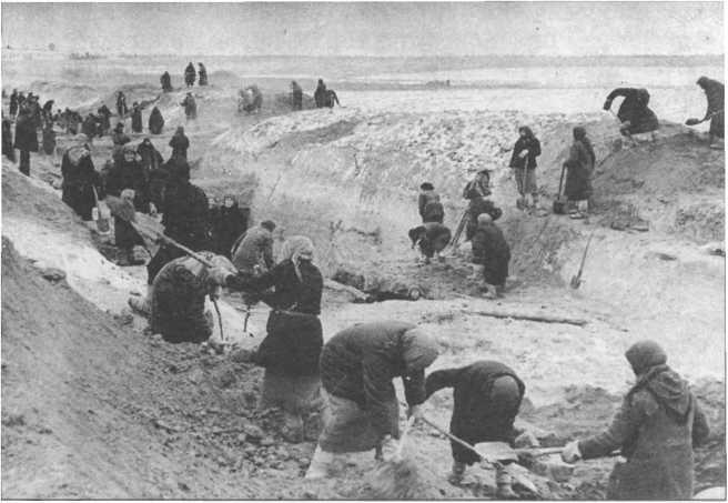 Строительство <a href='https://arsenal-info.ru/b/book/2369924413/23' target='_self'>оборонительного рубежа</a> началось в октябре 1941 года и закончилось в январе 1942 года.