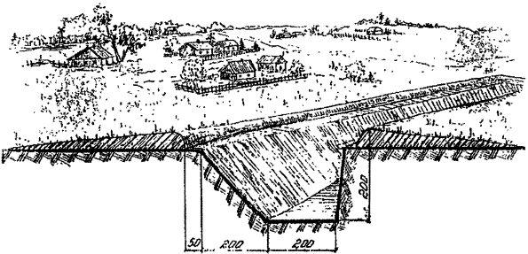 Инструкция требовала возведения вот таких противотанковых рубежей.