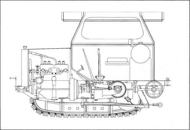 Трактор «Динос». Разрез.