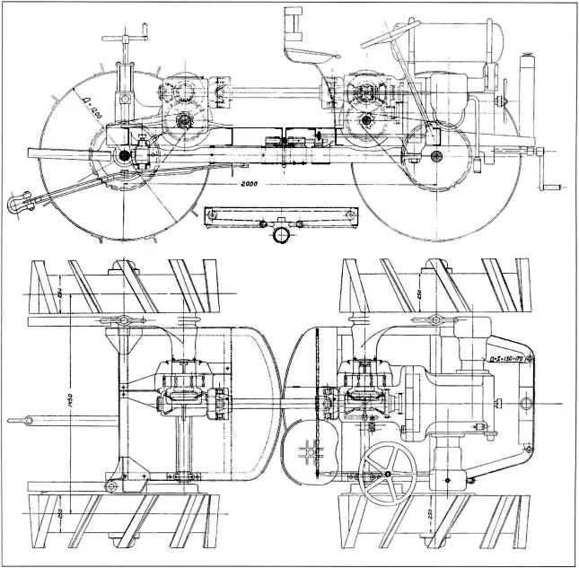 Общее устройство трактора «Павези».