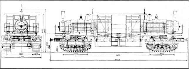 Проект гусеничного локомотива в 650 л.с.
