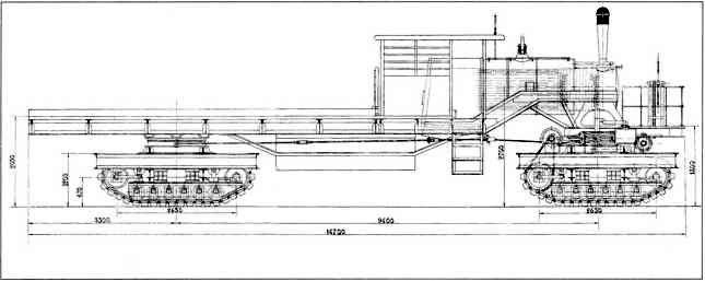 Проект парового гусеничного трактора грузоподъемностью 50т.