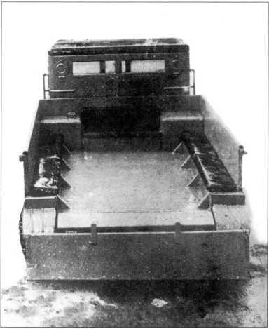 Деревянный макет тягача АТ-К(архив автора).