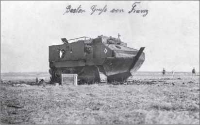 Танк СА-1 «Шнейдер», подбитый у Жювенкура.