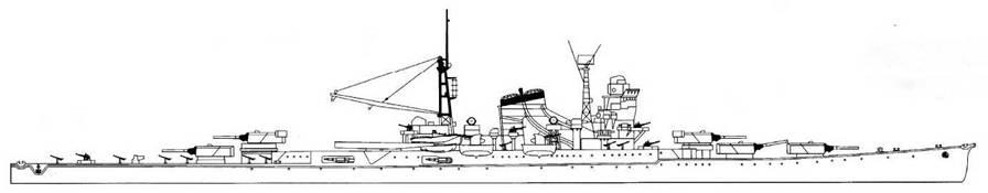 Mogami Class Suzuya, 1944