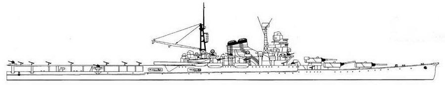 Mogami Seaplane Cruiser, 1944