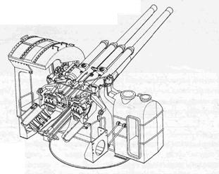 Спареннная 127-мм универсальная артустановка модель А-1