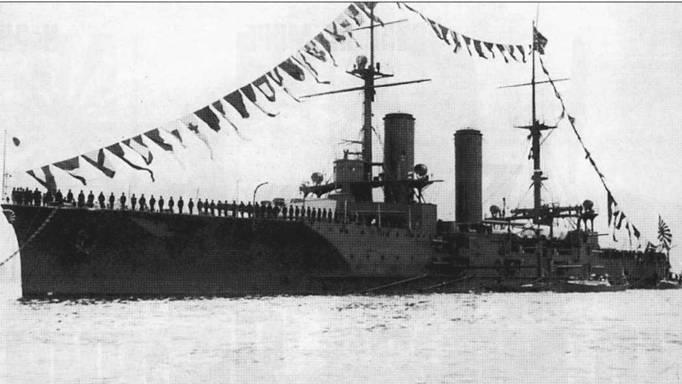 Броненосный крейсер «Икома», корабль типа «Цукуба», принимал участие в смотре германского флота в 1912г. Примерно в это время «Цукуба» и «Икома» были отнесены к классу линейных крейсеров.