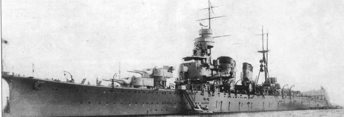 «Кинугаса» перед выходом в море, 1927г.