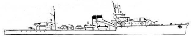 Yubari Class Experimental Light Cruiser Yubari, 1944