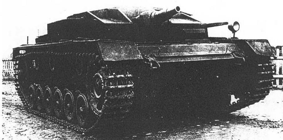 StuG III Ausf Е на испытаниях в Кубинке. 1946-47 гг.