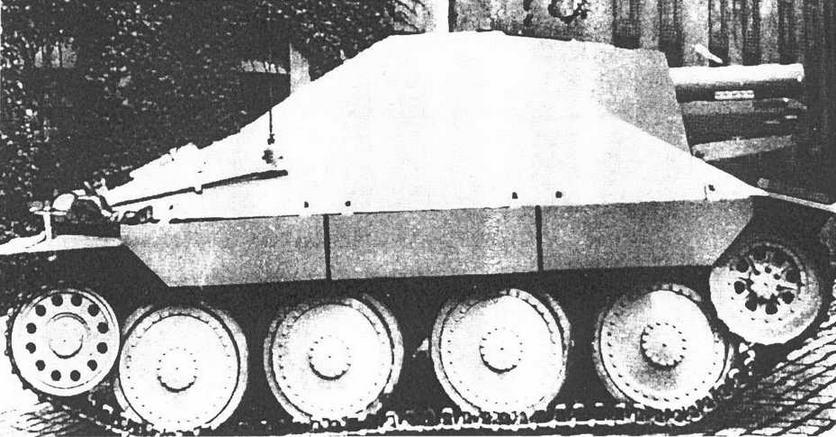 SturmPanzer 38(t) «Hetzer-Bison». Чехословакия 1945 г. САУ, переделанная из истребителя танков Hetzer.