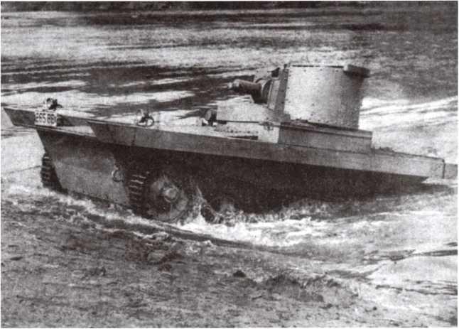 Испытания английской амфибии Vickers-Carden-Lloyd. Снимок из британского журнала начала 1930-х годов.