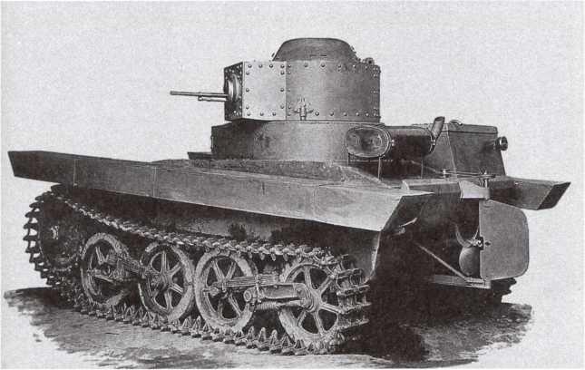 Опытный образец танка Т-33 конструкции ОКМО, вид слева сзади. 1932 год (АСКМ).