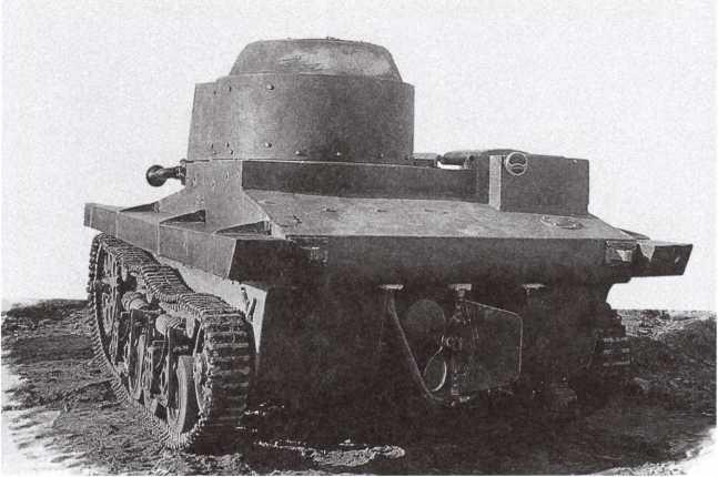 Опытный образец танка Т-37 конструкции ОКМО, вид сзади. 1932 год (АСКМ).