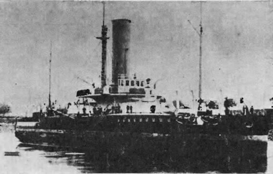 """""""Петр Великий"""" на отмели в реке Клайд. 30 июля 1881 г."""
