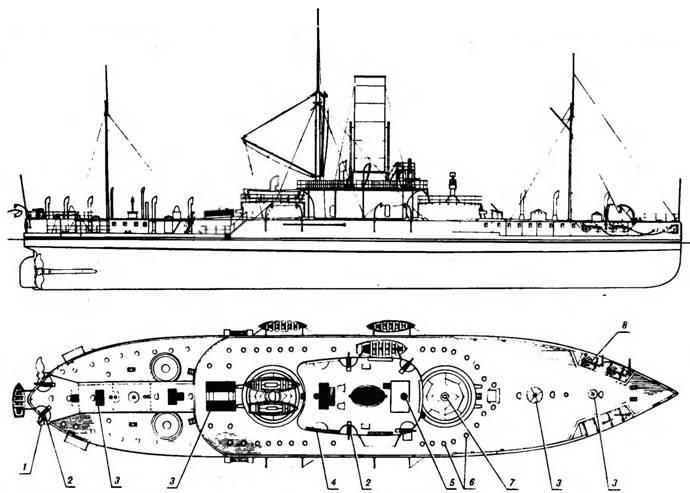"""Наружный вид """"Петра Великого"""" перед уходом в Англию. 1882 г."""