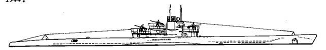 """Подводные лодки """"U-673"""" и """"U-973"""" VIIС серии, 1944 г."""