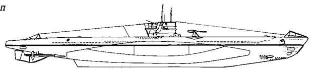 Подводная лодка VIIВ серии. 1940 г.
