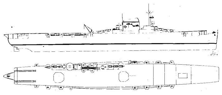 """Проект переоборудования лайнера """"Европа"""" в авианосец"""