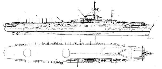 """Авианосец """"Граф Цеппелин"""", проект 1942 г."""