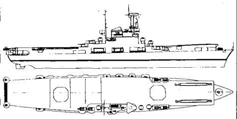 """Проект переоборудования французского крейсера """"Де Грасс"""" в авианосец"""