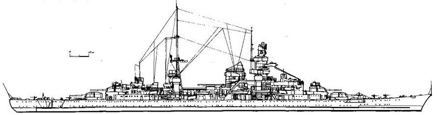 """Тяжелый крейсер """"Принц Ойген"""", 1945 г."""