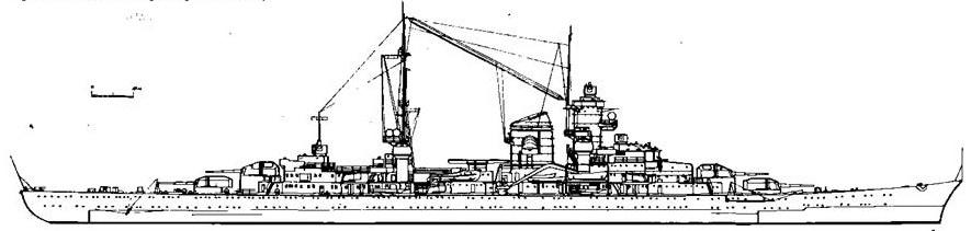 """Проект тяжелого крейсера """"Зейдлиц"""""""