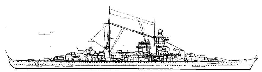 "Тяжелый крейсер ""Блюхер"", 1940 г."