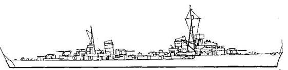 """Корабль проекта """"Эсминец 1938 Ас"""""""