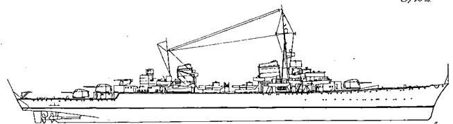 "Проект <a href='https://arsenal-info.ru/b/book/2414474991/4' target='_self'>крейсера</a>-разведчика типа ""Sp"", 1939 г."