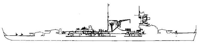 """Легкий крейсер """"Лейпциг"""", 1940 г."""