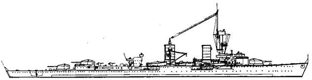 """Легкий крейсер """"Кенигсберг"""", 1930 г."""
