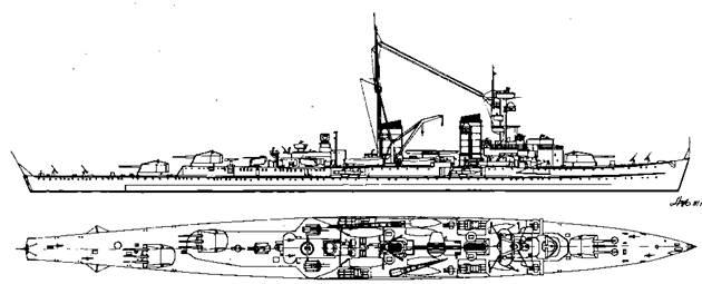 """Легкий крейсер """"Карлсруэ"""", 1940 г."""