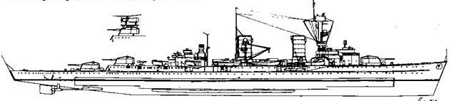 """Легкий крейсер """"Кельн"""" с автожирам """"Fi 265"""", 1942 г."""