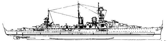 "Легкий крейсер ""Эмден"", 1936 г."