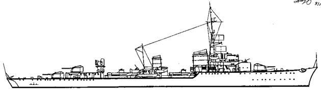 """Корабль проекта """"Эсминец 1936 С"""""""