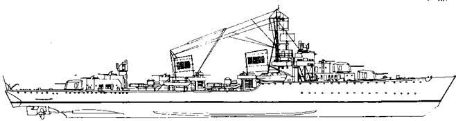 """Корабль проекта """"""""Эсминец 1942 С"""""""