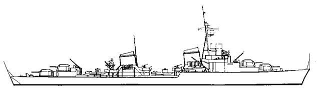 """Корабль проекта """"""""Эсминец 1945"""""""