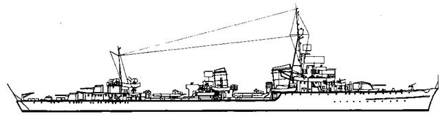 "Эскадренный <a href='https://arsenal-info.ru/b/book/1444485819/46' target='_self'>миноносец</a> ""Z-25"", 1944 г."
