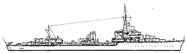 """Эскадренный миноносец """".Z-28"""", 1942 г."""