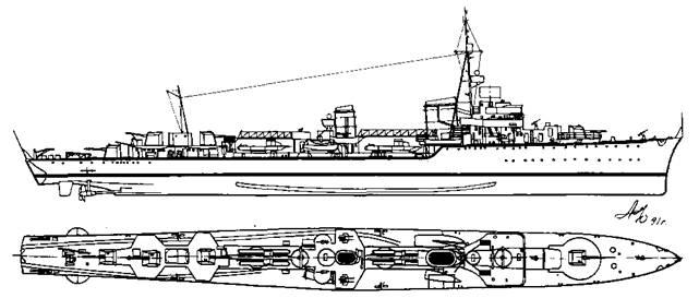 """Эскадренный миноносец """"Z-30"""", 1941-43 гг."""