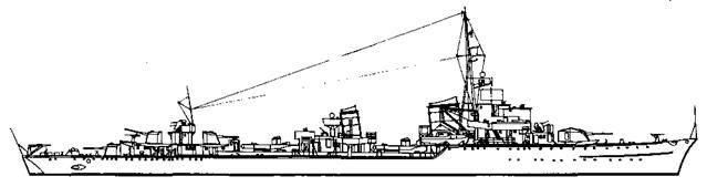 """Эскадренный миноносец """"Z-37"""", 1944 г."""